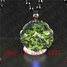 Bat Pendant Bead Necklace Jewelry Hot Certified Natural Black Green Jade Vampire