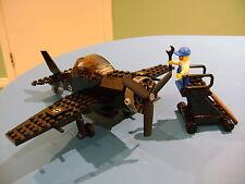 LEGO LOT #45 CUSTOM WW2 WORLD WAR 2 BLACK GERMAN FIGHTER PLANE & 2 MINI FIGURES