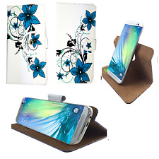 BlackBerry Keyone - Handy Schutz Etui Tasche - 360° L Grüne Blume