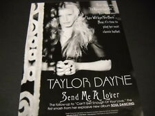 Taylor Dayne First.The.Now Soul Dancing 1993 Promo Poster Ad mint condition