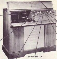 1947 PACKARD-BELL 1063 PHONO RADIO SERVICE MANUAL PHOTOFACT