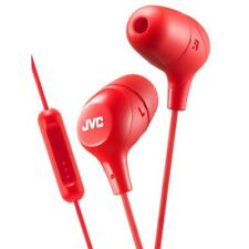 JVC HAFX38M/RED Marshmallow Custom Fit In-Ear Headphones with Remote & Mic - Red