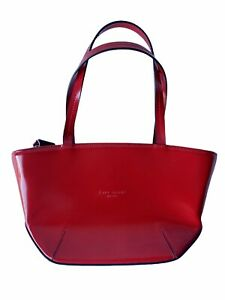 Kate Spade Red Mini Clutch Y2k Purse Hard Leather