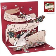 Treasure Cards Pop UP Greeting Card and Gift Card Holder - Peace Doves