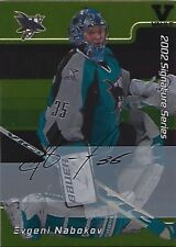 ITG Final Vault 2001-02 BAP Signature Series Autographs Gold #24 Evgeni Nabokov