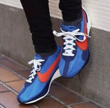 NIKE MOON RACER QS With BagMENS Trainers Sneakers Shoes UK 9 Blue Red Genuine