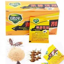 USA-Seller Green Leaf Cockroach killing bait powder. 10 Pieces
