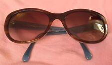 CHANEL Camelia 5187 H 1246/3B Brown Blue Frames Gradient Brown Lenses Sunglasses
