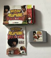 Ready 2 Rumble Boxing Nintendo 64 N64 COMPLETE CIB (Midway, 1999) TESTED