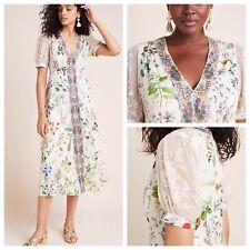 NEW ANTHROPOLOGIE Geisha Designs Donna Floral Midi Dress Size Small