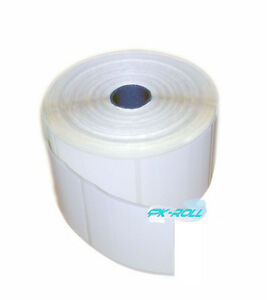Thermal Direct White Sticky Labels 57X58mm 2X2inch Zebra &More Qty500 1000 1500