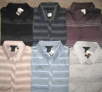 J.Ferrar Shirt.Men.Fine knit-100% Mercerized Cotton.Short sleeve.NWT.$34