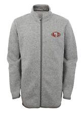 NFL  Boys San Francisco 49ers Full Zip Sweater Knit Fleece Jacket Size Med.