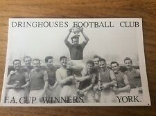 Vintage Real Photo Postcard YORK Dringhouses Football Club FA Cup Winners Soccer