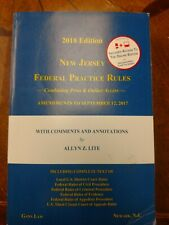 2018 New Jersey Federal Practice Rules  - NJ Law book 2018 edition