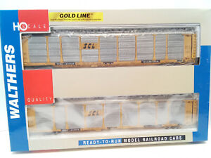 Walthers Gold Line SCL BI-Level Auto Carrier 2 Pack  HO Freight Cars 932240108