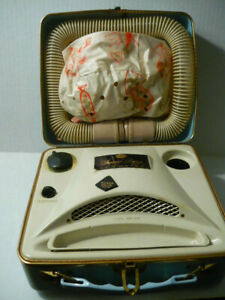 "Vintage 1950s 60s Rare ""CASCO"" Bonnet Hair/Nail Dryer Baby Blue/Working Cond."