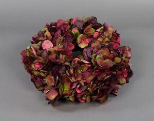 Hortensienkranz 32cm bordeaux-grün CG künstlicher Kranz Kunstblumen