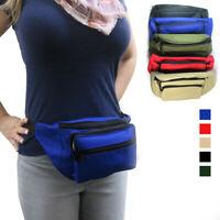 Waist Fanny Pack Adjustable Belt Bag Pouch Travel Sports Hip Purse Nylon Secure