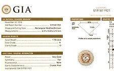 GIA certified loose 1.18ct I3 H princess diamond vintage antique