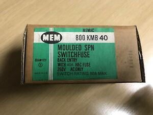 MEM Moulded SPM Switchfuse KMB 40