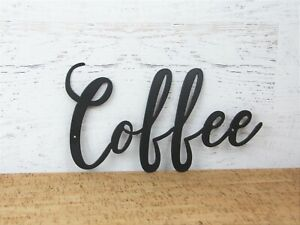 Coffee metal sign,  Metal Wall Hanging Coffee word sign, Calligraphy Sign