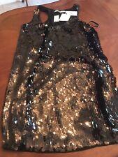 DIANE VON FURSTENBERG | new 10 black/brown mini womens cocktail party dress