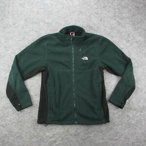 The North Face Fleece Jacket Men's M Green Full Zip Fleece Jacket