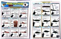 🌟 Fly Fishermen's Basic Durable Laminated Waterproof Fly Tying How-To Chart #2