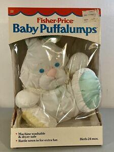 Vintage 1988 Fischer Price Puffalump Plush Bunny Rabbit Rattle Baby Toy 1355