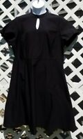 Modcloth Size 3X Black  Fit And Flare Dress,keyhole neck,missing belt
