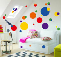 Colour Dots Pattern Wall Decal Removable Stickers Kids Nursery Baby Room Decor