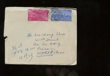 India Cover 1955 Calcutta to Pusan, South Korea w/backstamp & long typed letter