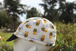 CYCLING CAP HAPPY BEE BEE HANDMADE IN USA   S M L