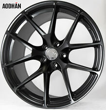 20X9 +15 20X10.5 +20 AodHan LS007 5X115 Black Wheels RIMS STAGGERED ( SET OF 4 )