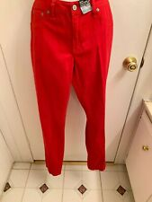 "NWT ""ANA"" AWESOME RED STRETCH SKINNY LEGGING JEANS SIZE 12 NICE!!"
