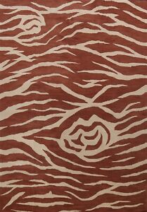 Abstract Animal Print Oriental Area Rug Wool Hand-tufted Modern Carpet 10'x13'
