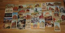 Vintage Postcards 37 Postcards 1940s - 60s Historic Hotels - College CA IL TX MI