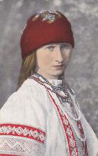 AK-Ukrainische Ruthenisches Mädchen-Feldpostkarte-1917