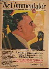 THE COMMENTATOR - FEBRUARY 1937  LOWELL THOMAS, ROBERT BENCHLEY, H.V. KALTENBORN