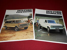 1979 FORD ECONOLINE VAN BROCHURE and 79 CLUB WAGON SALES CATALOG / 2 for 1 Deal