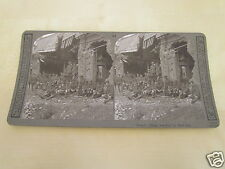 WW1 STEREOVIEW - FRENCH VILLAGE WRECKED BY SHELL FIRE - WORLD WAR ONE