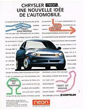 PUBLICITE ADVERTISING  1995   CHRYSLER NEON