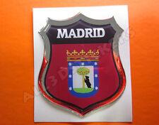 Pegatina Emblema 3D Relieve Bandera Madrid Ciudad - Todas las Banderas del MUNDO