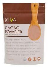 Kiva Raw Organic Cacao Powder (Unsweetened Cocoa - Dark Chocolate Powder)