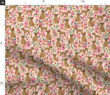 New listing Brussels Griffon Griffon Dog Florals Dogs Dog Spoonflower Fabric by the Yard