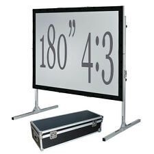 """180"""" Fast Fold Projection Screen Front and Rear 4 3 HD Fastfold Fixed/framed"""