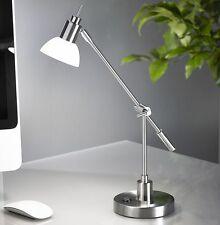 LED Schreibtischlampe Leuchte Bürolampe Leselampe Nachttisch Lampe Silber T88 B