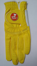 Ladies Golf Gloves Large Left Hand Yellow Lady Classic Soft Flex Ball Marker