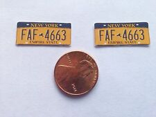New York Yellow license plate decals for your r/c car or truck 1/10 scale
